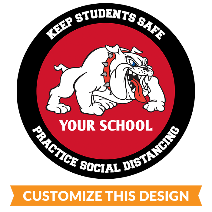 School Mascot Social Distancing Floor Sticker