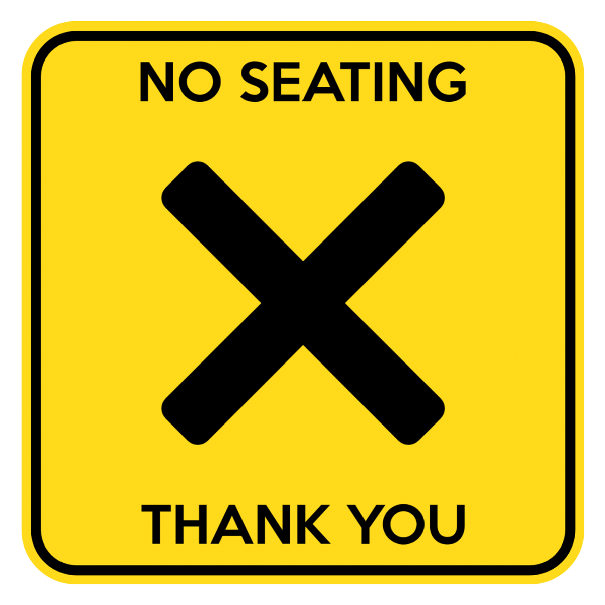 """Customizable """"No Seating"""" Table Sticker"""