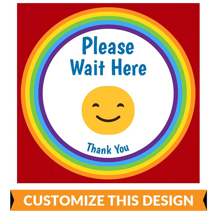 Rainbow Social Distancing Floor Stickers