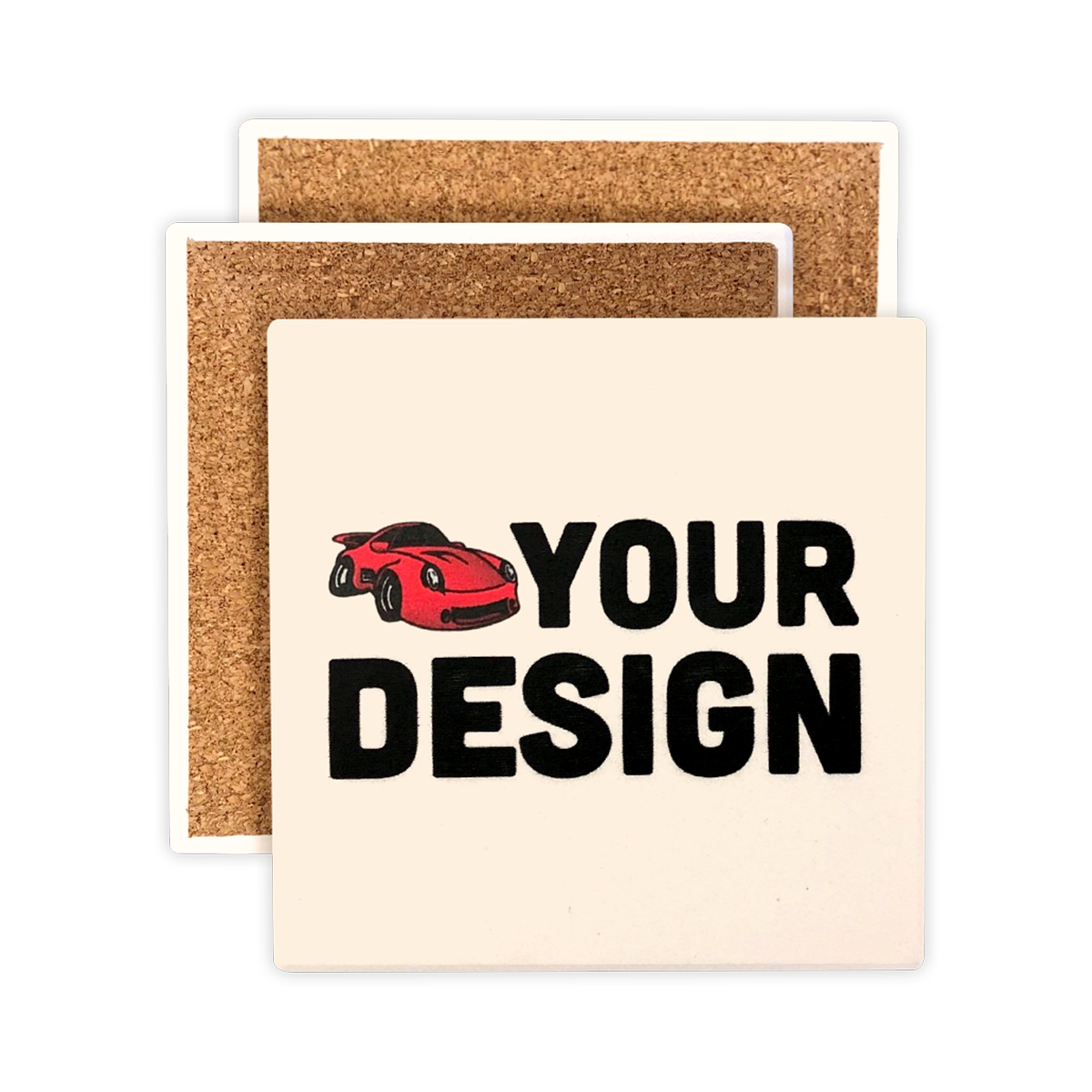 Custom Square Stone Coasters