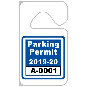 Custom Standard Hang Tag Parking Permit