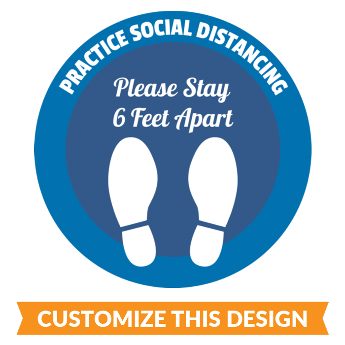 Custom Social Distancing Floor Stickers