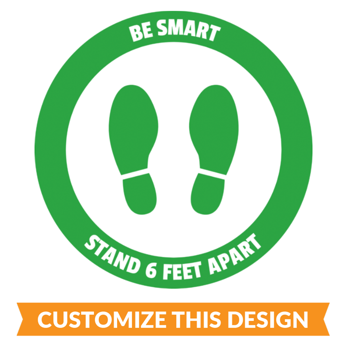 Custom Be Smart Floor Stickers