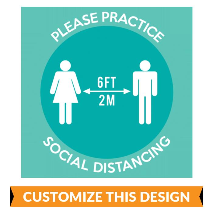Custom Practice Social Distancing Floor Stickers