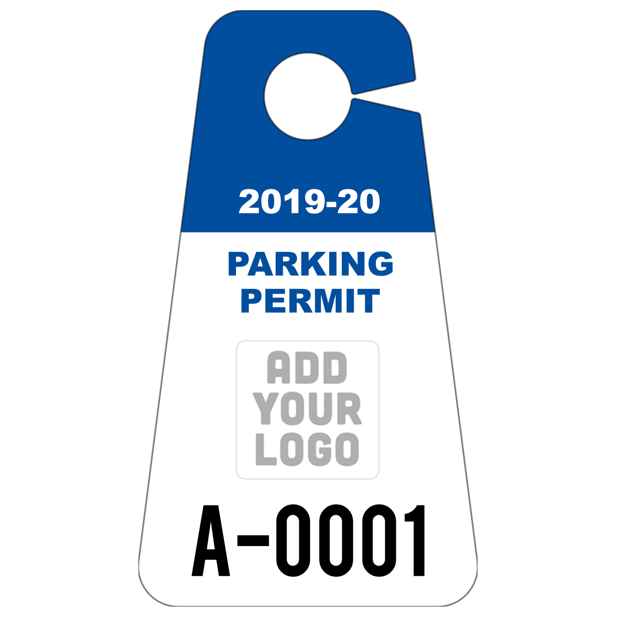 Triangle Hang Tag Parking Permit with Your Logo