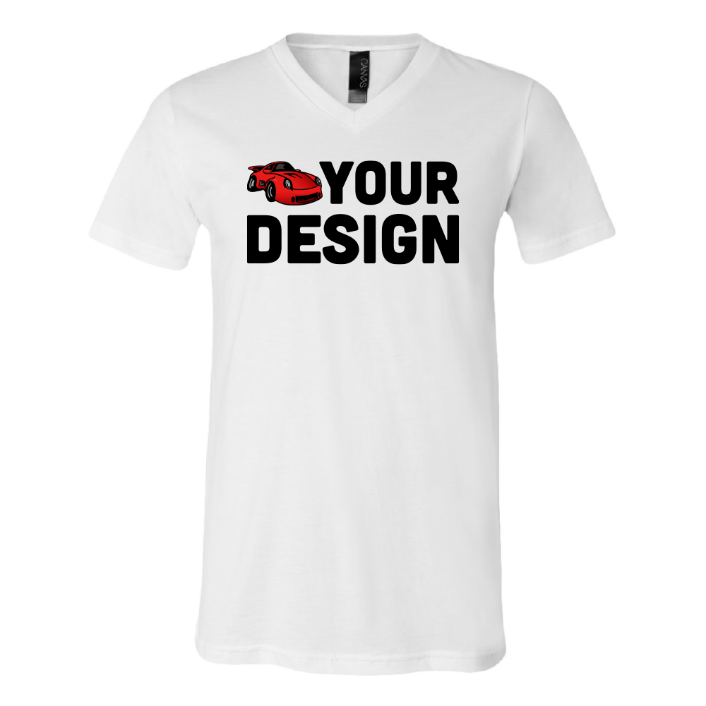 Custom Jersey Short Sleeve V-Neck Tee