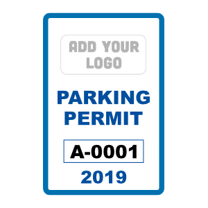 Vertical Rectangle Parking Permit with Your Logo