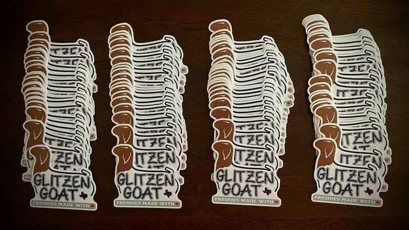 Allen's photograph of their Die Cut Stickers