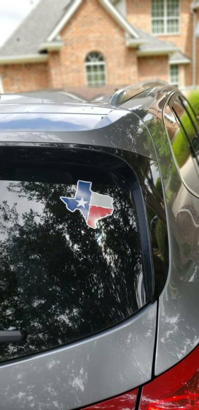 Joseph's photograph of their Distressed Texas State Sticker