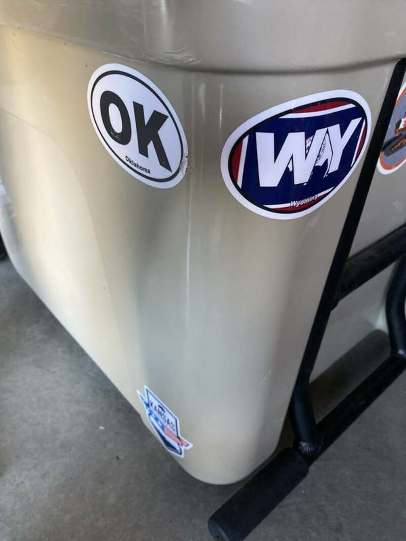 Rhys's photograph of their Wyoming Wy State Flag Oval Sticker