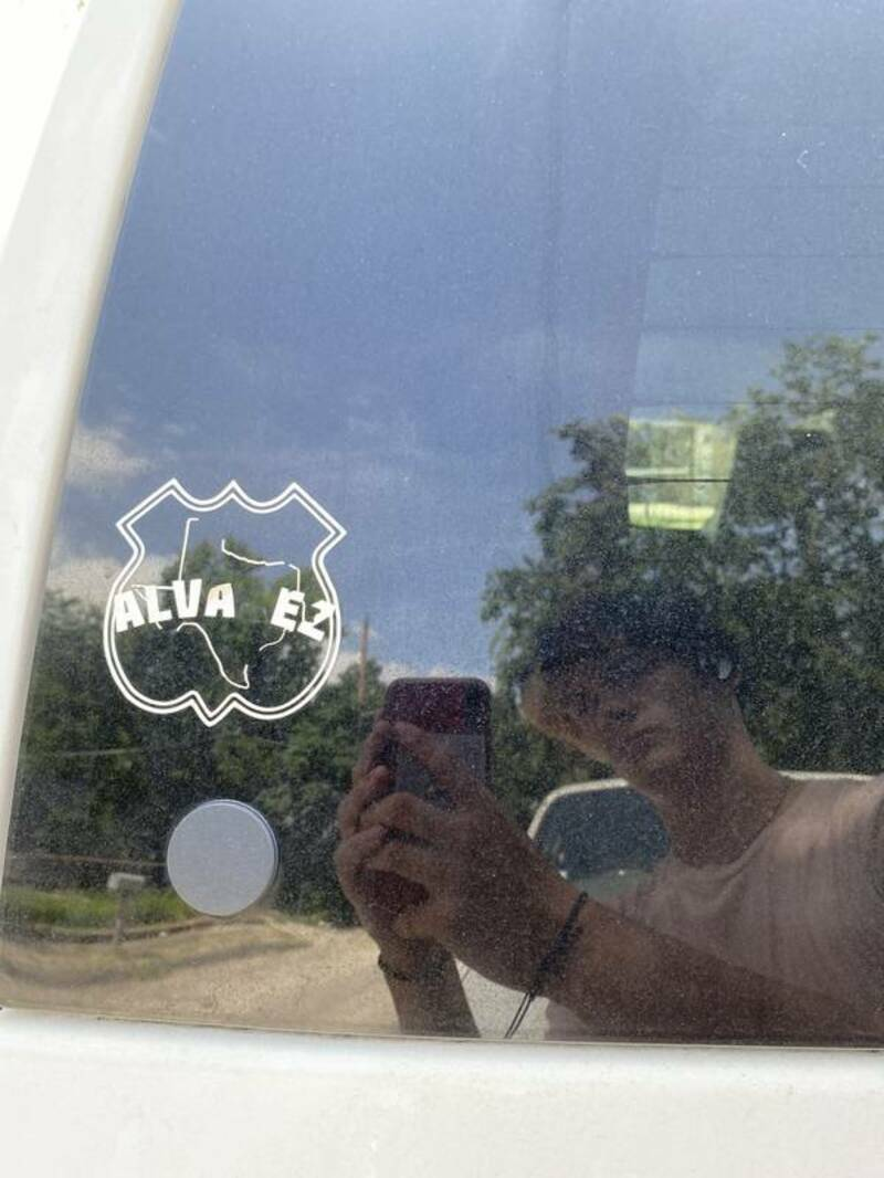 Uriel's photograph of their Transfer Stickers