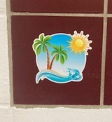 Deanne's review of Palm Trees on Tropical Island Sticker